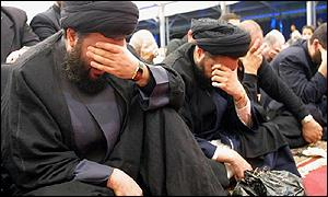 The leaders of Hezbollah display their emotions during recitations about the Martyrdom of Hussein