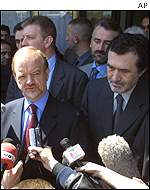 Robin Cook in Tetovo, Macedonia