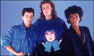 Boy George (with blue hair) and Culture Club in their heyday