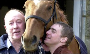 Good to be home, Norman Mason and Richard Guest welcome home the National winner