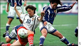 Russia versus Japan, women's 1999 world cup