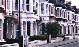 terraced housing in south London