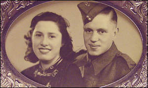 Harrow war widow with her late husband