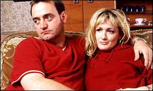 Craig Cash and Caroline Aherne