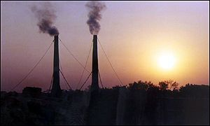 Chimneys in Bangladesh