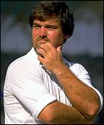 Mike Gatting thinks about his next move