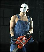 Eminem with chainsaw