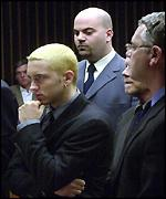 Eminem in court