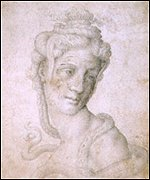 Copy of chalk drawing by Michelangelo, c 1533 or after