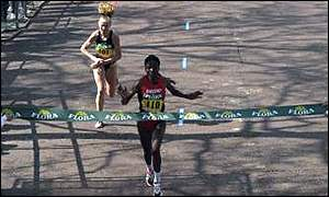 Joyce Chepchumba's last-gasp win over Liz McColgan in 1997 was probably London's most dramatic race