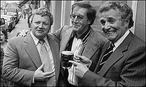 Sir Harry with Sellers and Michael Bentine at Graftons pub, Westminster,