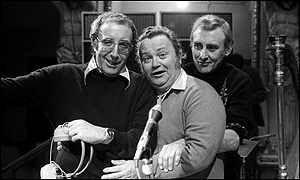 Sir Harry reunited with Peter Sellers and Spike Milligan in 1972 for the BBC's 50th anniversary