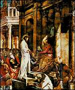 Tintoretto's Christ before Pilate