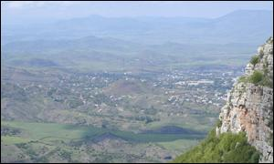 Stepanakert as seen from the mountains