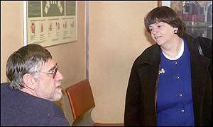 A lorry driver and Ann Widdecombe