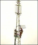 3G telecoms mast have been erected on the Isle of man