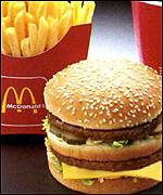 McDonald's burger and chips