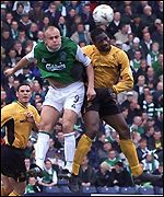 Marvin Andrews beats Paatelainen in the air