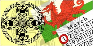 St David's Day graphic