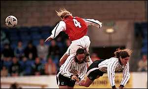 Arsenal's Jayne Ludlow in the Premier League Cup Final