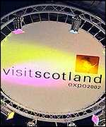 VisitScotland sign at tourism fair