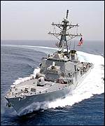 The USS Curtis Wilbur equipped with the AEGIS system, the only significant system that the US declined to sell to Taiwan