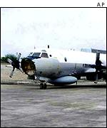 The downed US spy plane on Hainan Island