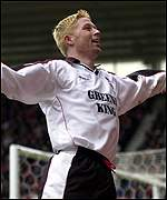 Alun Armstrong celebrates two goals at Middlesbrough