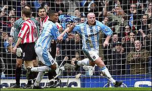 John Hartson opens the scoring for Coventry