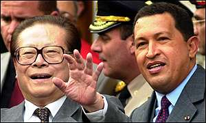 Jiang Zemin and Hugo Chavez