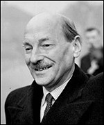 British Prime Minister Clement Attlee