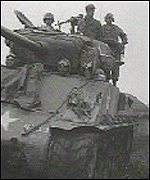 A British tank arrives in North Korea