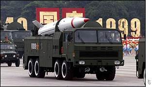 Chinese Dongfeng 31 long-range missile