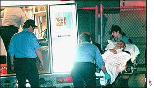 Sinatra collapsed and was taken to hospital during a concert in 1994