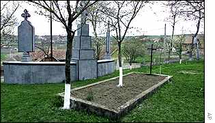 Grave said to be Fritz Schroeder's in  Ceanu Mare, Romanian village