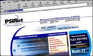 PSINet's website