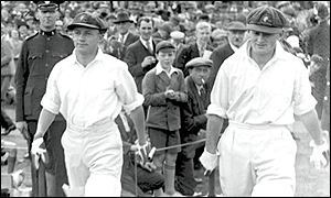 Donald Bradman and McCabe, Headingley, 1930