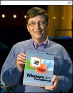 Bill Gates with Windows 2000, AP