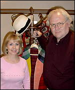 Sixties companion Wendy Padbury meets sixth Doctor (Colin Baker)