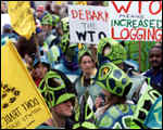 Trade protests in Seattle