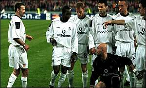 Karl Power takes his place alongside the rest of the United team