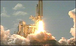 Endeavour lifts off from Kennedy Space Center, Nasa