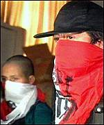 MRTA rebels during the 1996 siege of the Japanese embassy