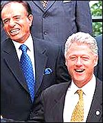 President Clinton with President Carlos Menem of Argentina at the 1998 summit