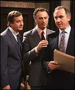 Derek Fowlds, Paul Eddington and Nigel Hawthorne