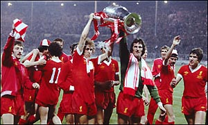 Liverpool celebrate after beating Bruges in 1978