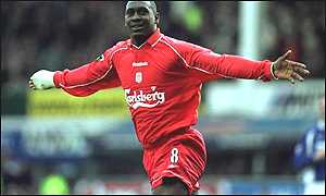 Emile Heskey celebrates another goal