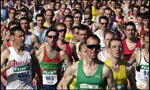 Runners in last year's London Marathon