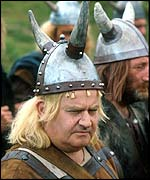 Ronnie Barker dressed as a Viking