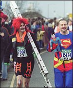 Some people can't get through the Marathon in anything other than fancy dress